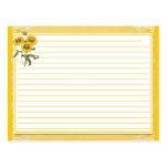 Yellow Sunflowers Recipe Cards