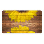 Yellow Sunflowers Rustic Vintage Brown Wood Pack Of Standard Business Cards