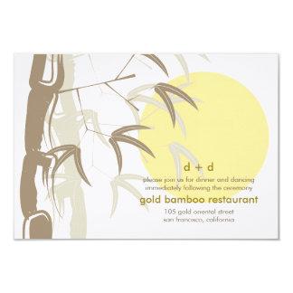 Yellow Sunrise Bamboo Zen Wedding Reception 9 Cm X 13 Cm Invitation Card