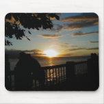 Yellow sunset mousepad
