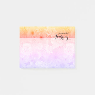 Yellow Sunset Pastel Floral Flowers Boho Journey Post-it Notes