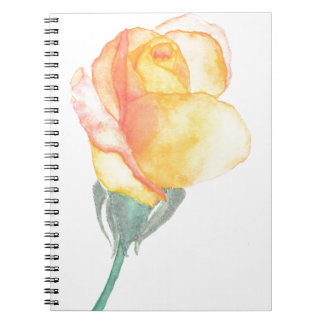 Yellow Sunset Rose Notebook