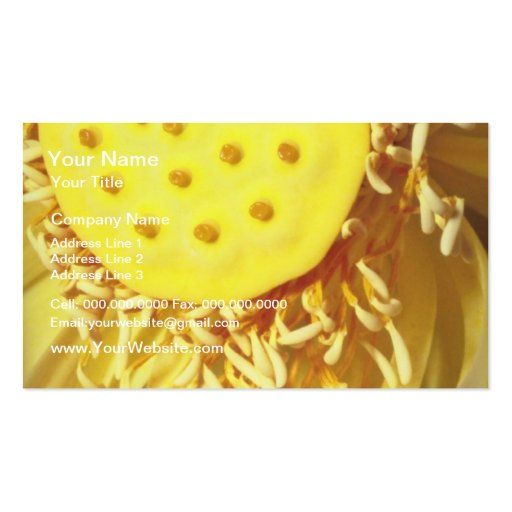 yellow Sunshine flowers Business Cards