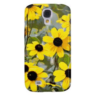 Yellow Sunshine Wildflowers Flowers Galaxy S4 Case