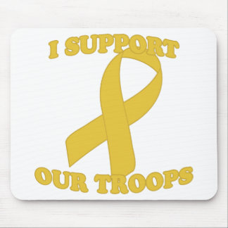 Yellow Support Troops Mouse Mat