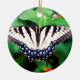 Yellow Swallowtail Round Ceramic Decoration