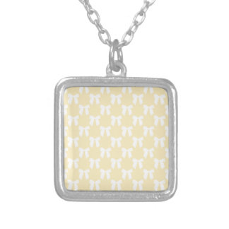 Yellow Sweet Butter With White Bow Pendants