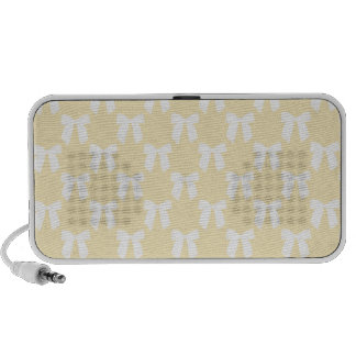 Yellow Sweet Butter With White Bow Mini Speakers