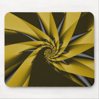 Yellow Swirl Mousepad