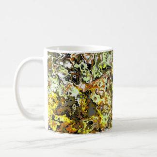 Yellow Swirling Floral Classic Designer Mug
