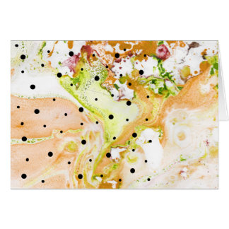 Yellow Swirls with polka dots notecard
