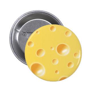 Yellow Swiss Cheese Texture 6 Cm Round Badge