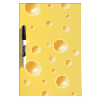 Yellow Swiss Cheese Texture Dry Erase Board