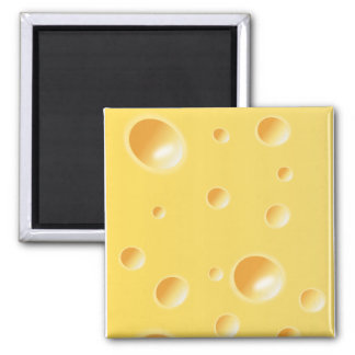 Yellow Swiss Cheese Texture Magnet