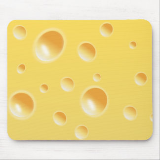 Yellow Swiss Cheese Texture Mouse Mat