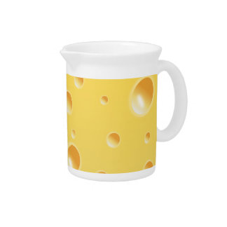 Yellow Swiss Cheese Texture pitcher jug