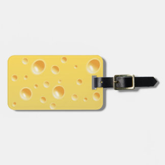 Yellow Swiss Cheese Texture Tag For Bags