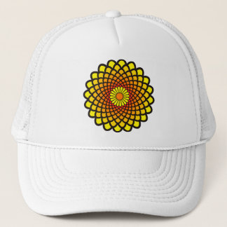 Yellow Symmetry Trucker Hat