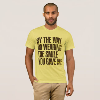 Yellow t-shirt Masculine By The Way
