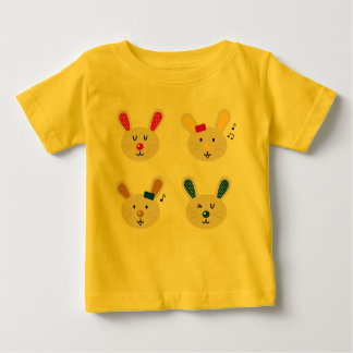 Yellow t-shirt with Bunnies