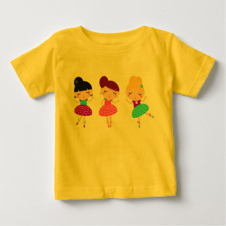 Yellow t-shirt with dancing girls