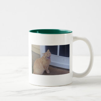 Yellow Tabby Cat Two-Tone Mug