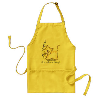 Yellow Tabby Rescue...it's a love thing! Standard Apron