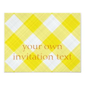 yellow table cloth 11 cm x 14 cm invitation card