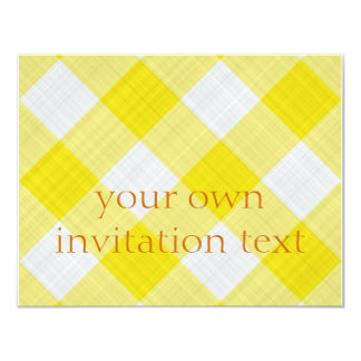 "yellow table cloth 4.25"" x 5.5"" invitation card"