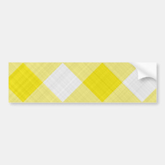 yellow table cloth bumper sticker