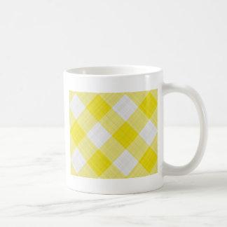 yellow table cloth coffee mug