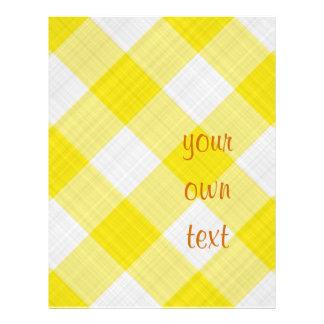 yellow table cloth custom flyer