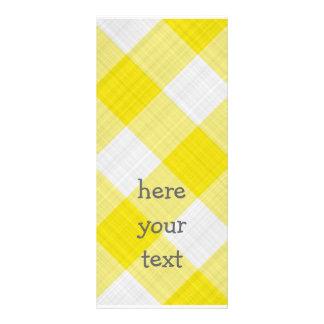yellow table cloth custom rack cards