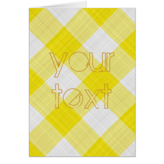 yellow table cloth greeting card