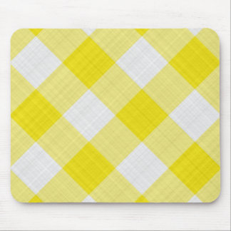 yellow table cloth mouse mat