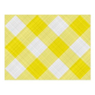 yellow table cloth postcard