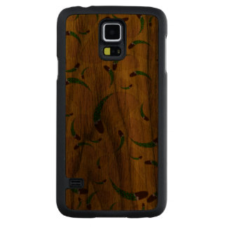 Yellow tacos carved walnut galaxy s5 case