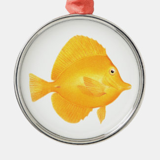 Yellow Tang Fish Christmas Ornament