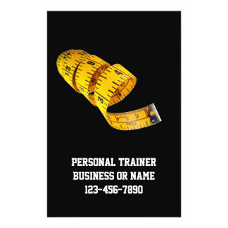 Yellow Tape Measure Personal Trainer Weight Loss 14 Cm X 21.5 Cm Flyer