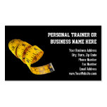 Yellow Tape Measure Personal Trainer Weight Loss Pack Of Standard Business Cards