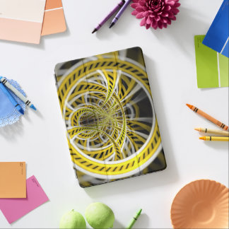 Yellow Tape Roller Coaster Ride on Fractal Rails iPad Pro Cover