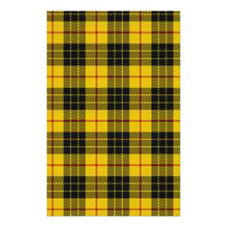 Yellow tartan stationery