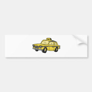 Yellow Taxi Cab Bumper Stickers