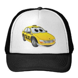 Yellow Taxi Cab Cartoon Cap