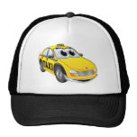Yellow Taxi Cab Cartoon Mesh Hat