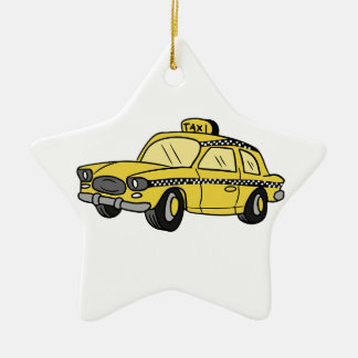 Yellow Taxi Cab Christmas Ornament