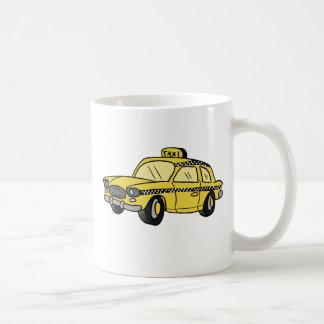 Yellow Taxi Cab Basic White Mug