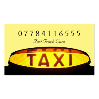 Yellow Taxi Cab Sign Pack Of Standard Business Cards