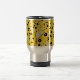 Yellow taxi pattern travel mug