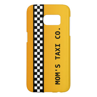 """Yellow Taxi Stripe """"Mom's Taxi Co."""""""